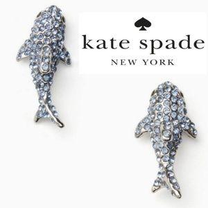 ♠️ Kate Spade♠️ Pave Shark Earrings